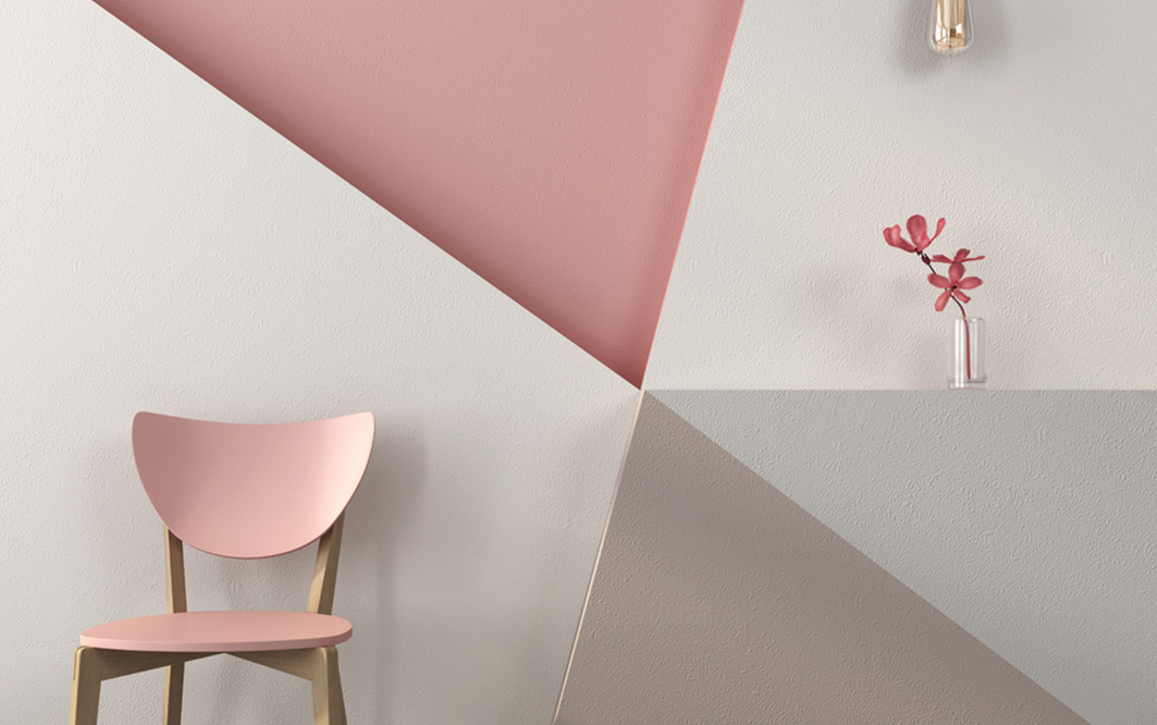 Dekorierter Raum im Style Grafische Formen