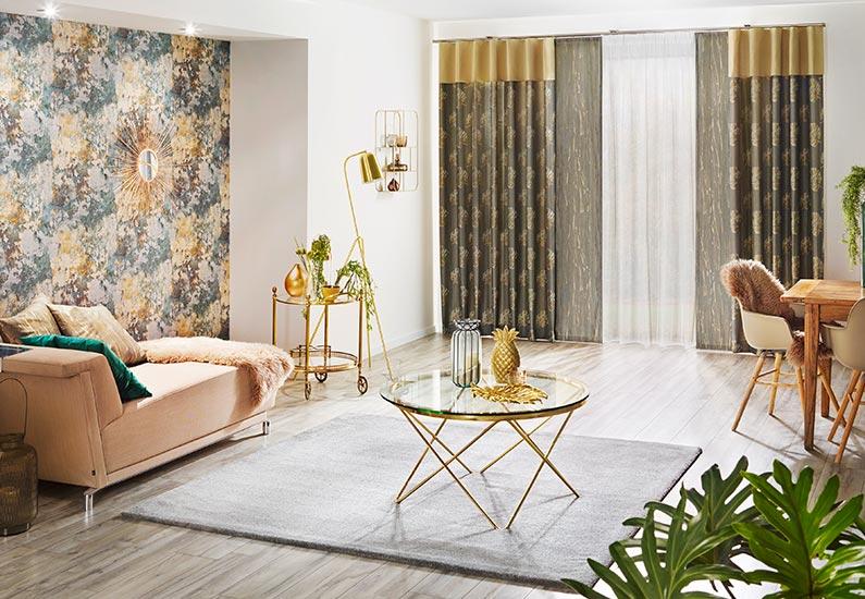 gelb/goldene gardinen inspiration