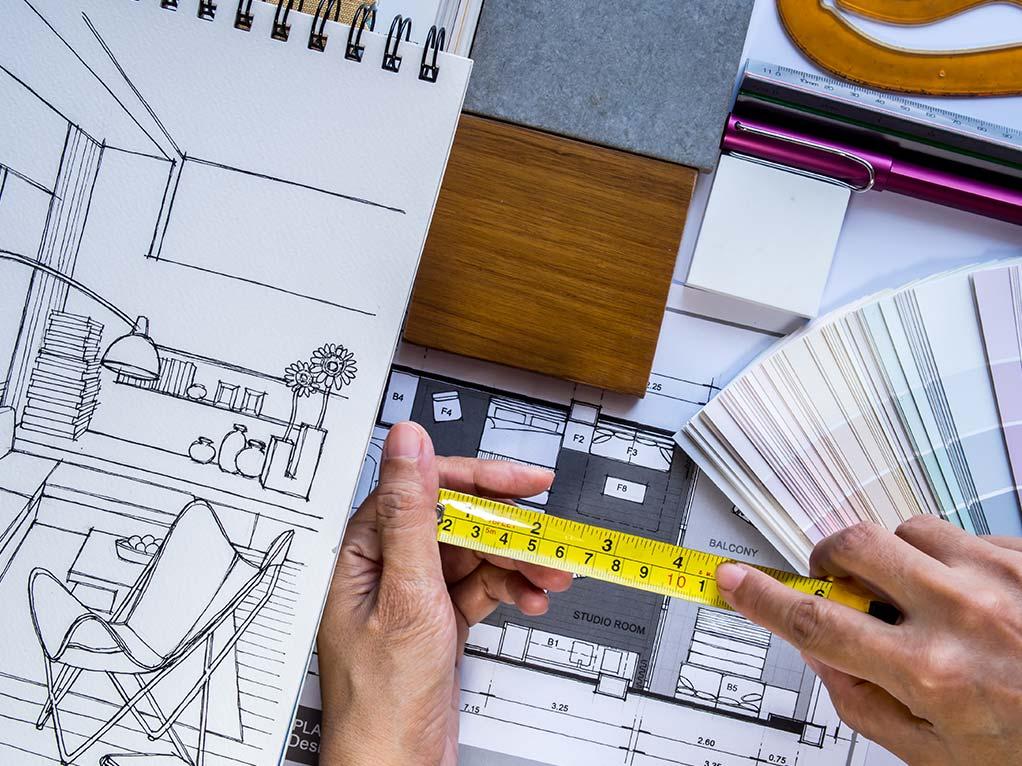 Architekt plant Raum
